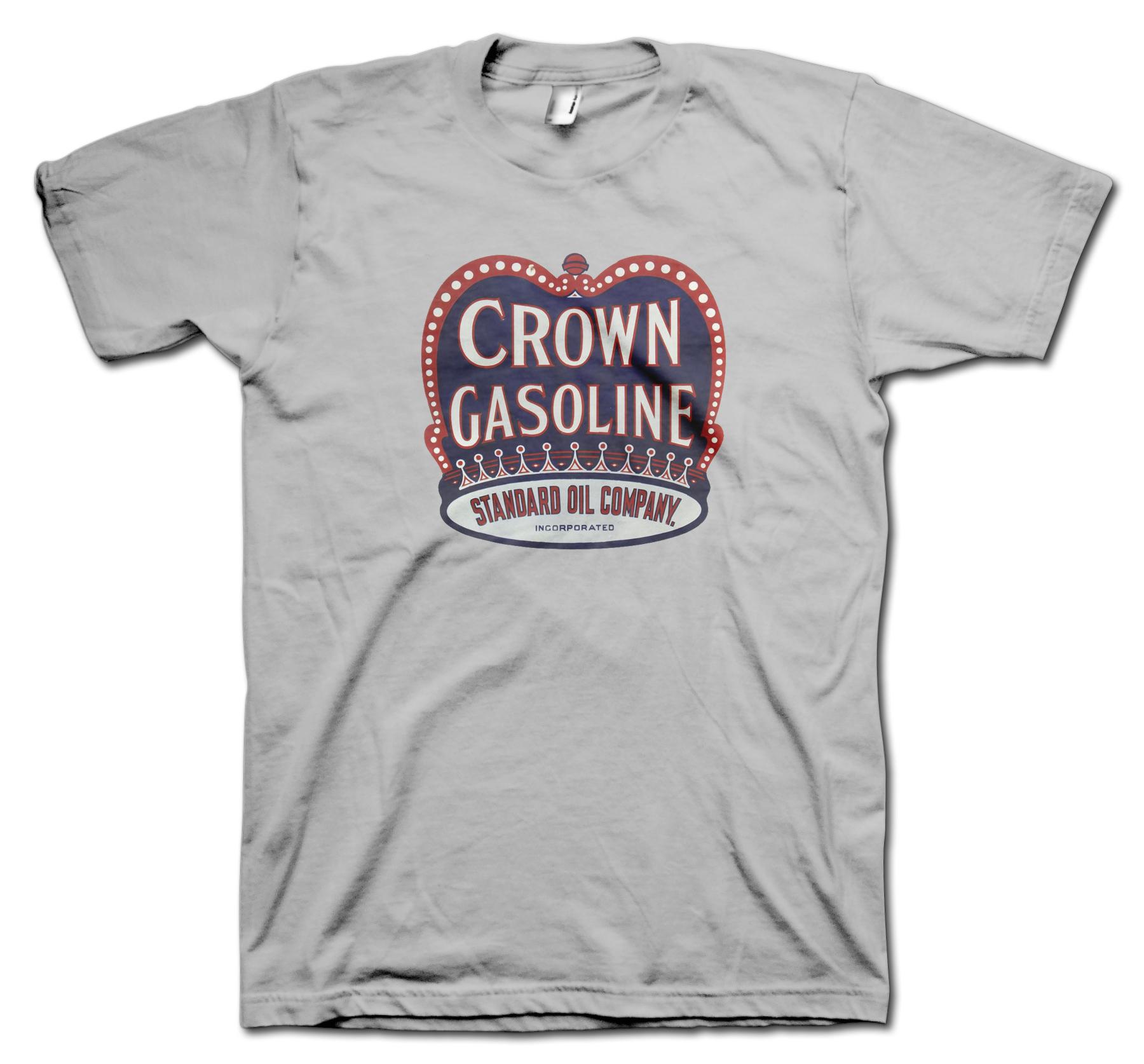 Crown gasoline retro t shirt for Vintage t shirt company