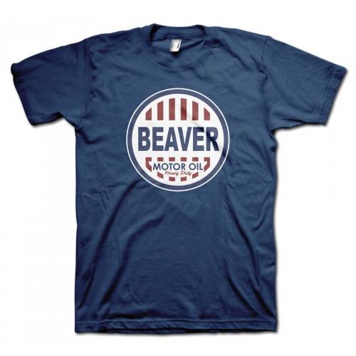 Beaver Motor Oil Retro T-Shirt