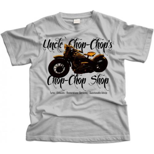 Chop Shop Bike Garage T-Shirt