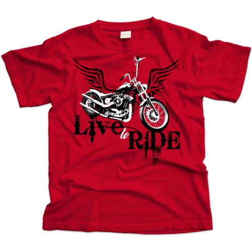 Live to Ride Biker T-Shirt