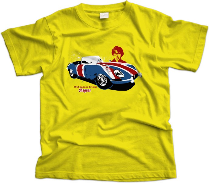 Jaguar E type Austin Powers T-shirt