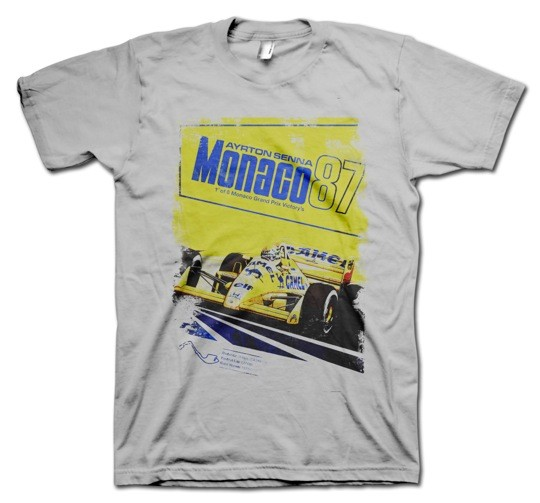 Monaco 87 Senna Poster