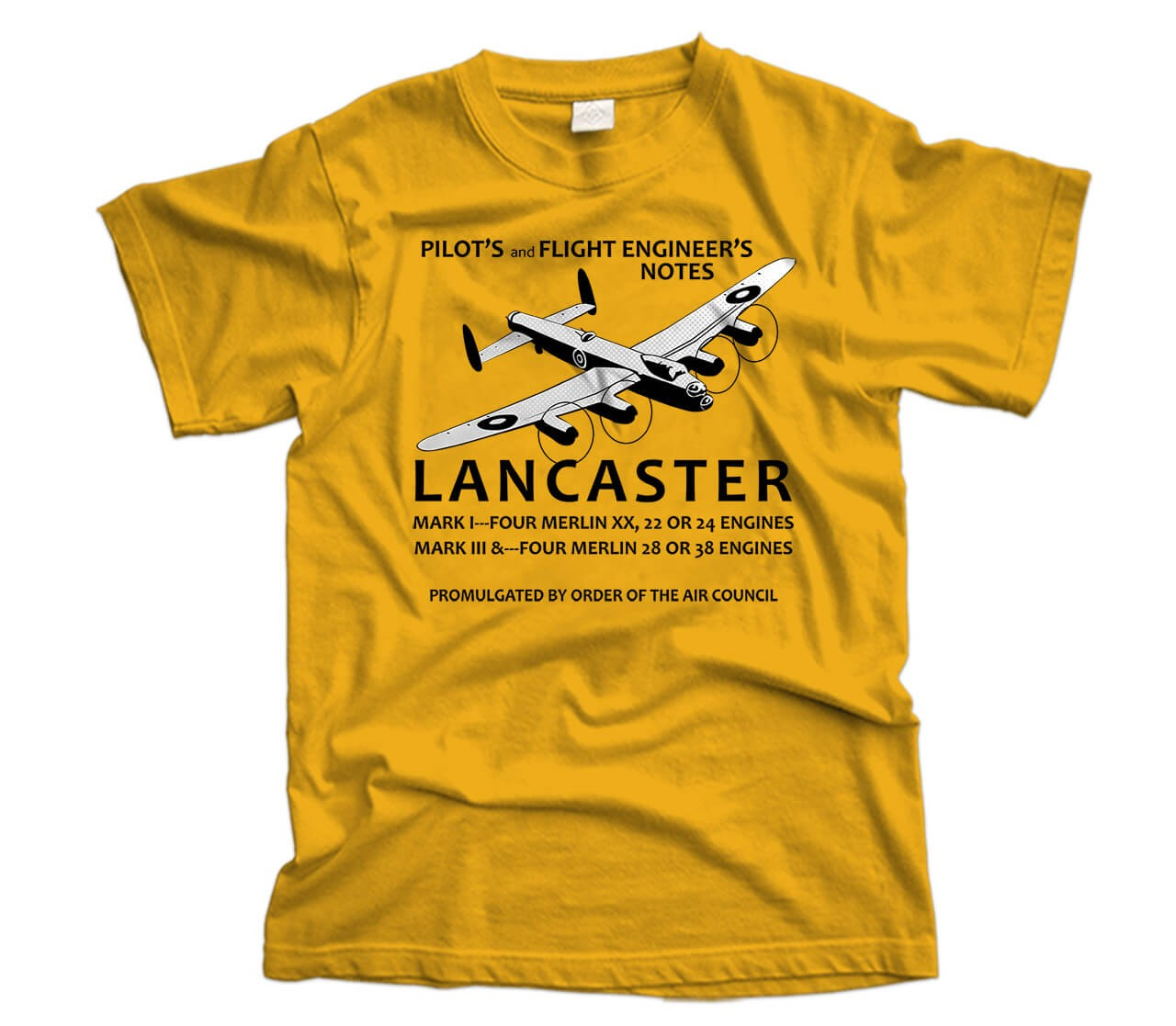 Lancaster Pilot's Notes Aircraft T-Shirt