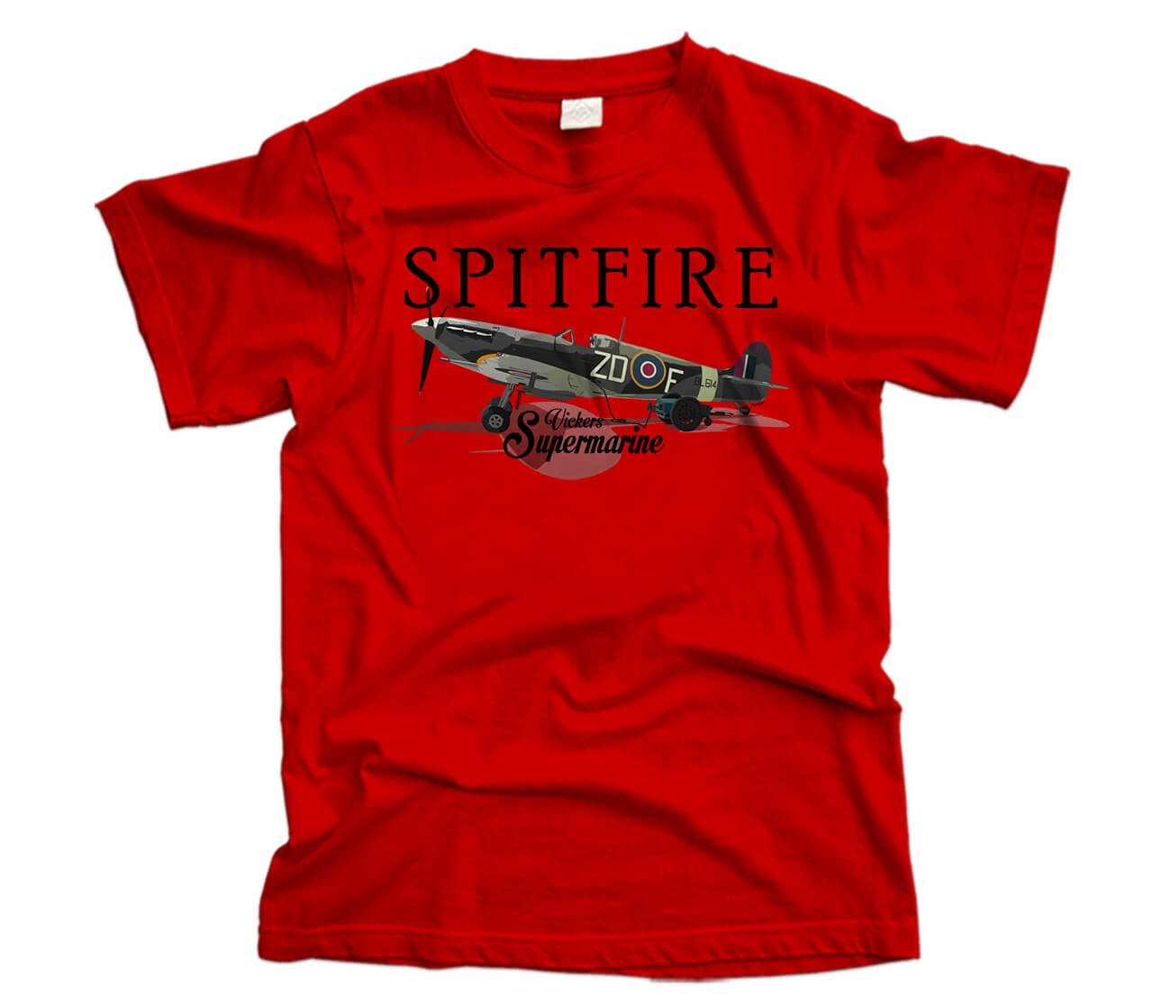 Vickers Supermarine Spitfire Aircraft T-Shirt