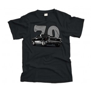 70 Ford Mustang car T-shirt