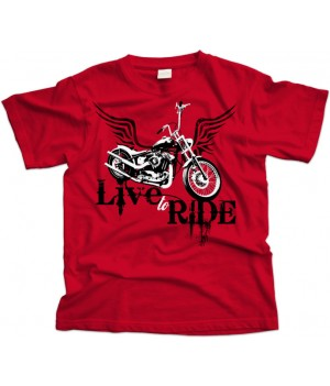 Live to Ride Biker T-Shirt
