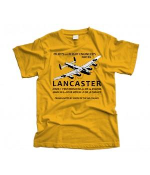 Lancaster Pilot's Notes Aircraft T-Shirt